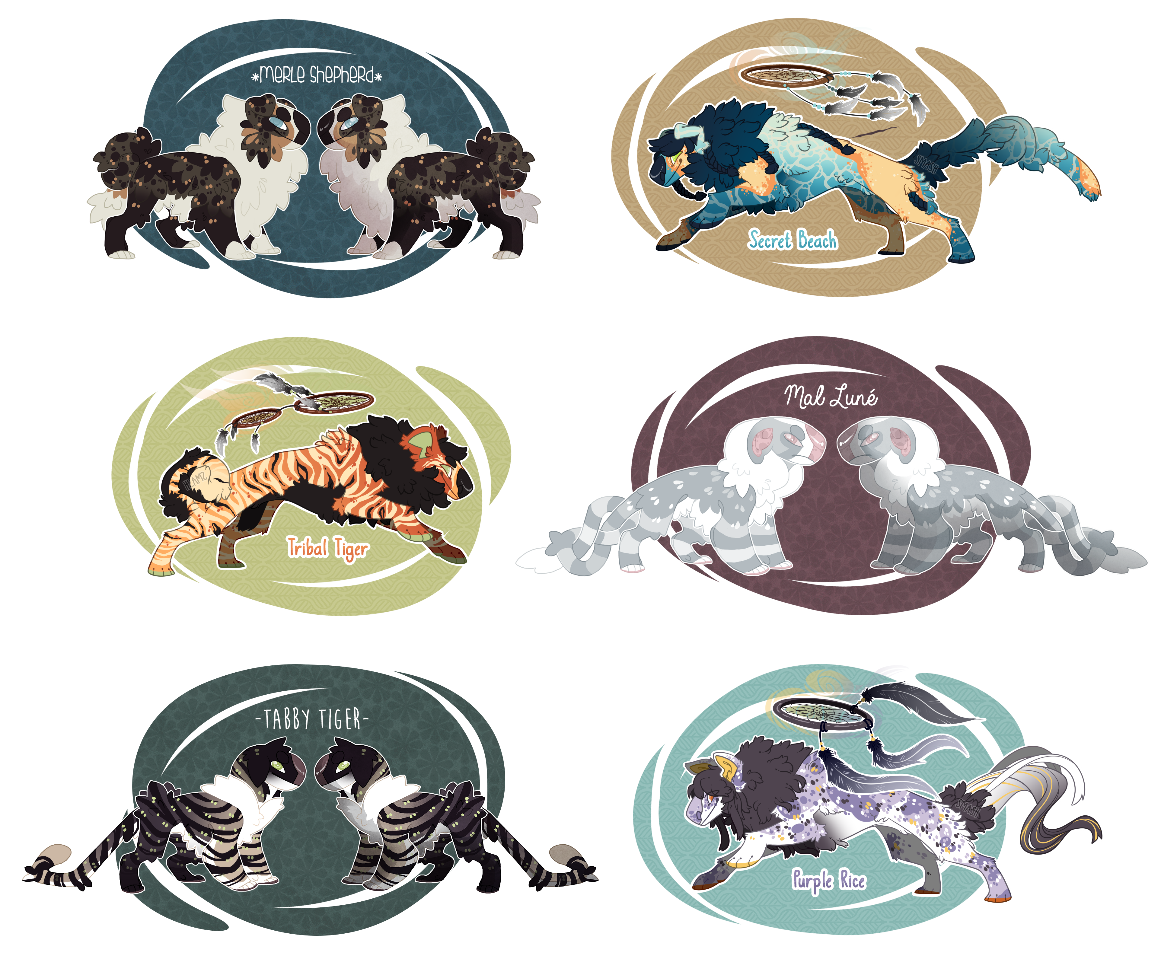 Closed species adoptables collab [closed] by Shegoran