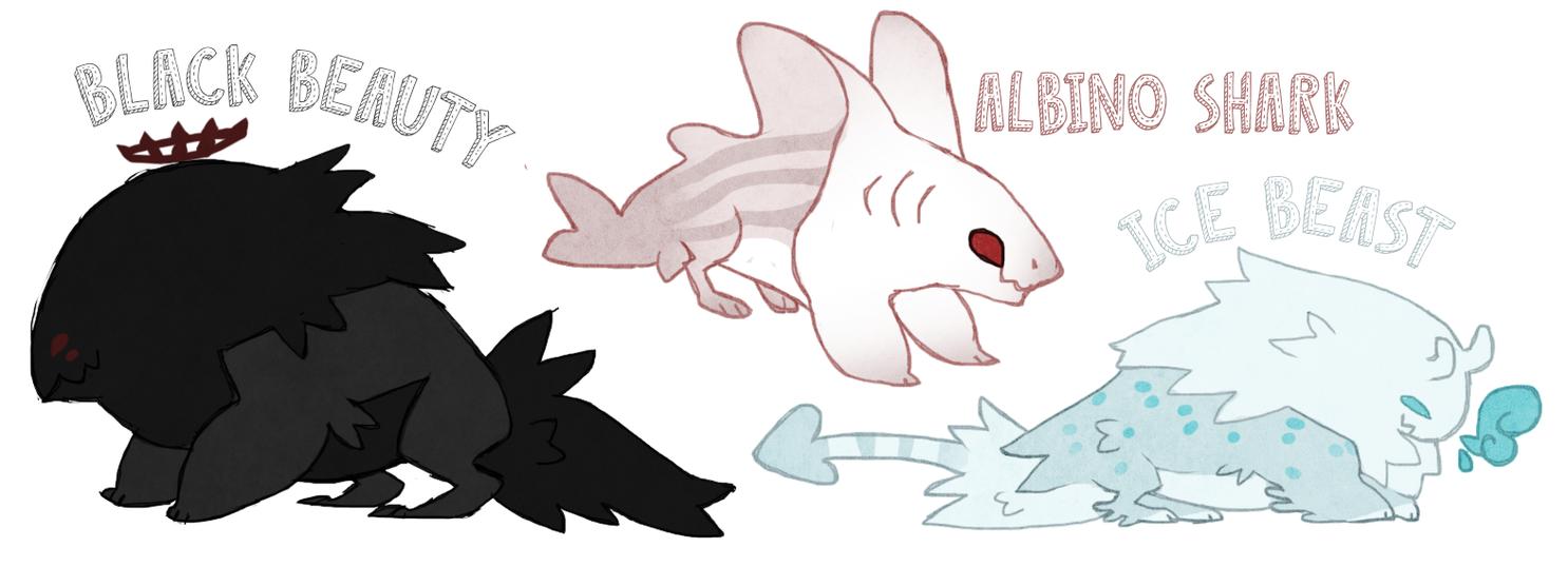 Beast adoptables 6$ by Shegoran