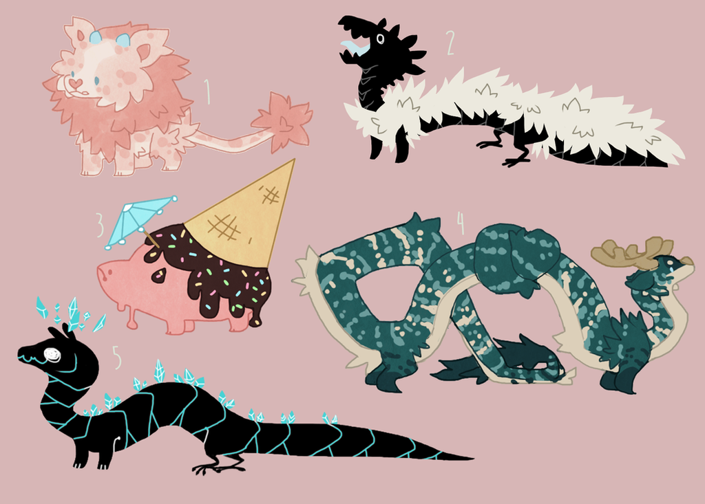 7$ various adoptables by Shegoran