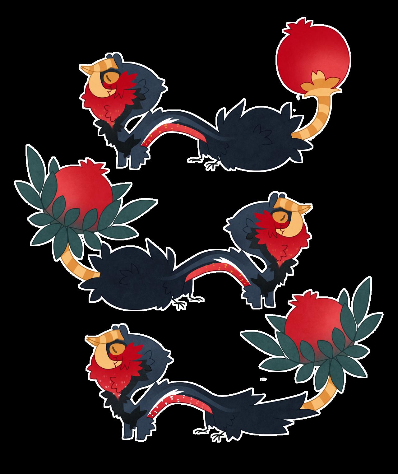 Custom pomegranate Veggie'fon by Shegoran