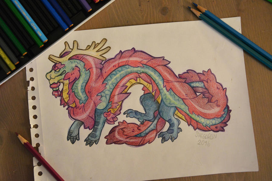Chinese dragon adopable (closed) by Shegoran