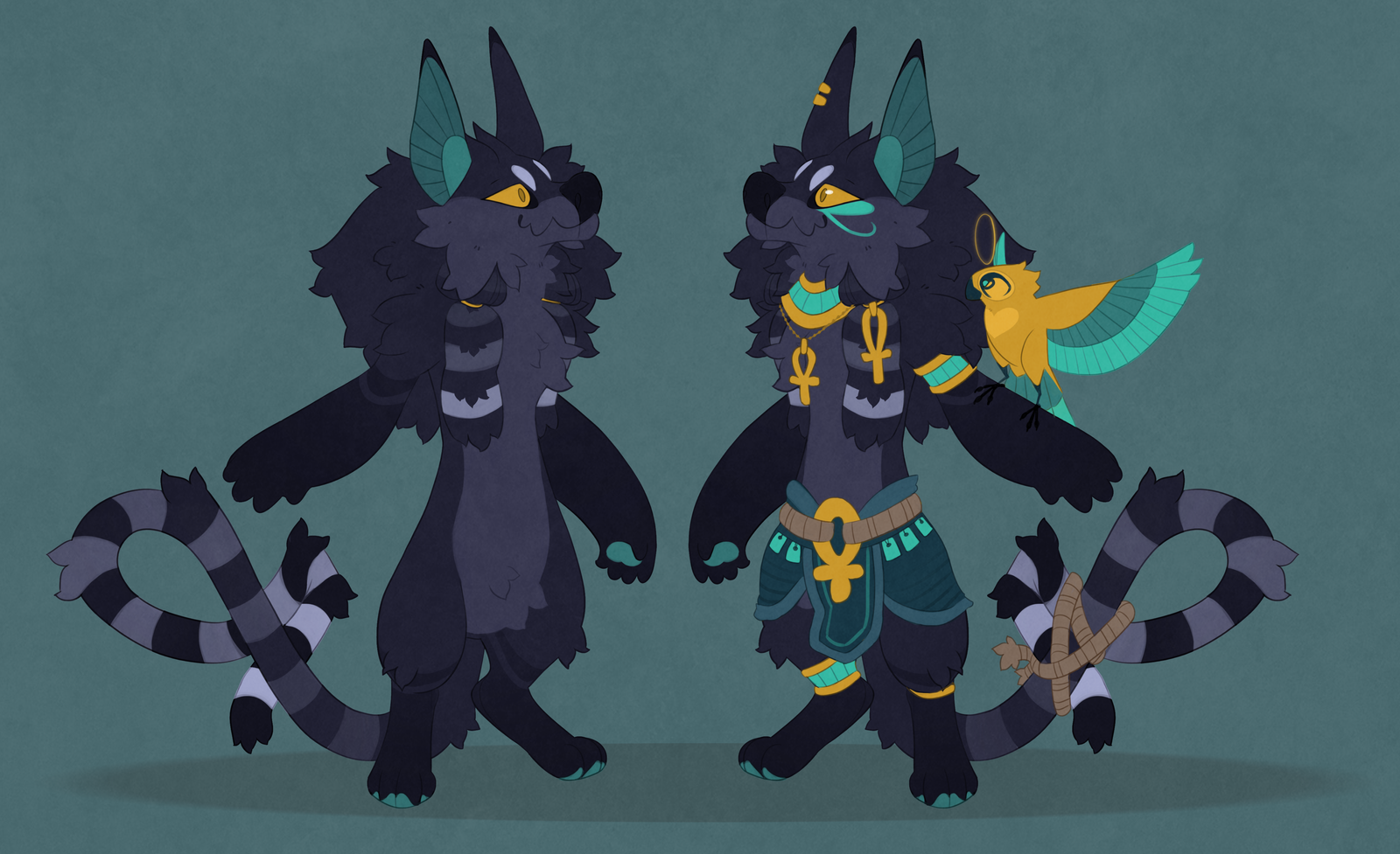 Anubis inspired adoptable 50$ closed by Shegoran
