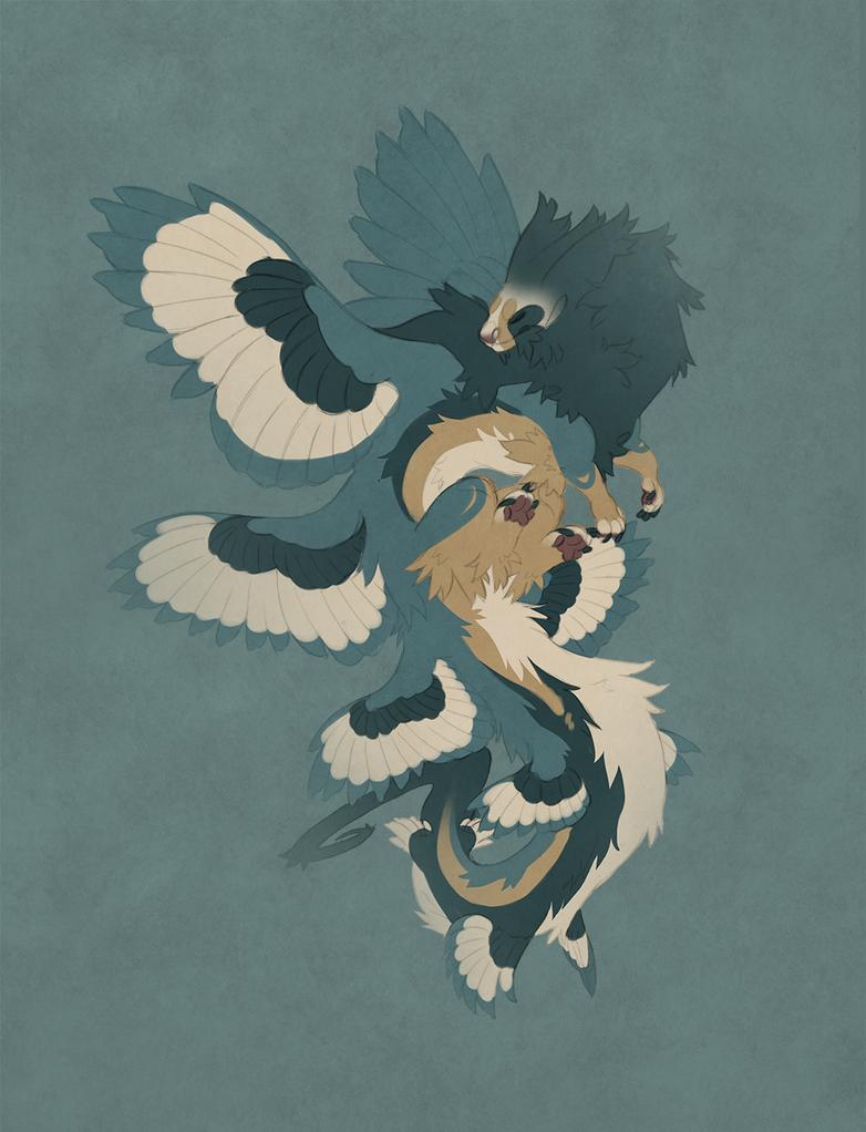AOTD: Bearded vulture ferret (sold) by Shegoran