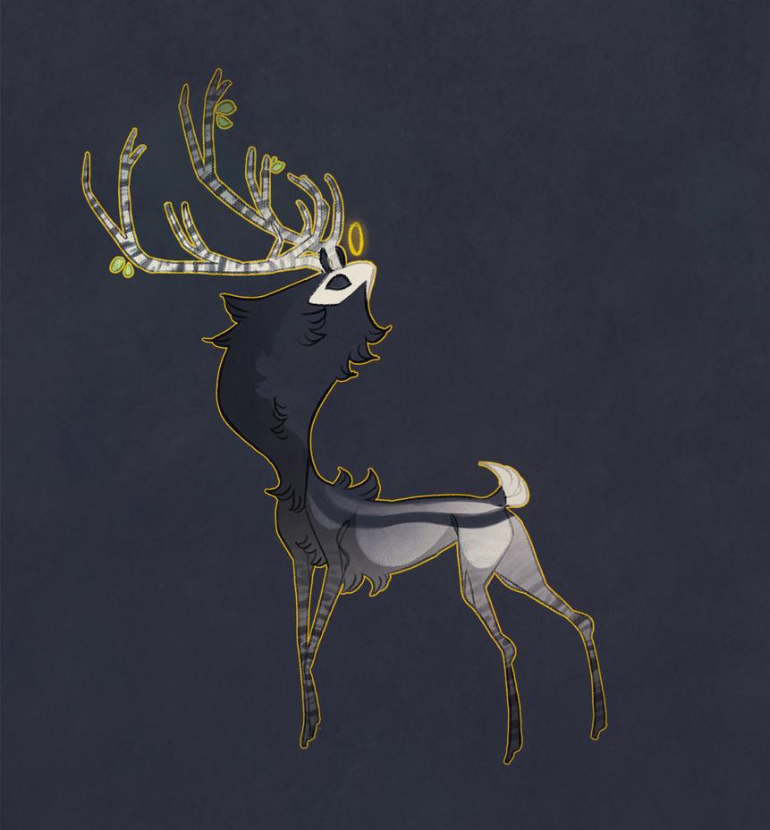 AOTD: Deer spirit (sold) by Shegoran