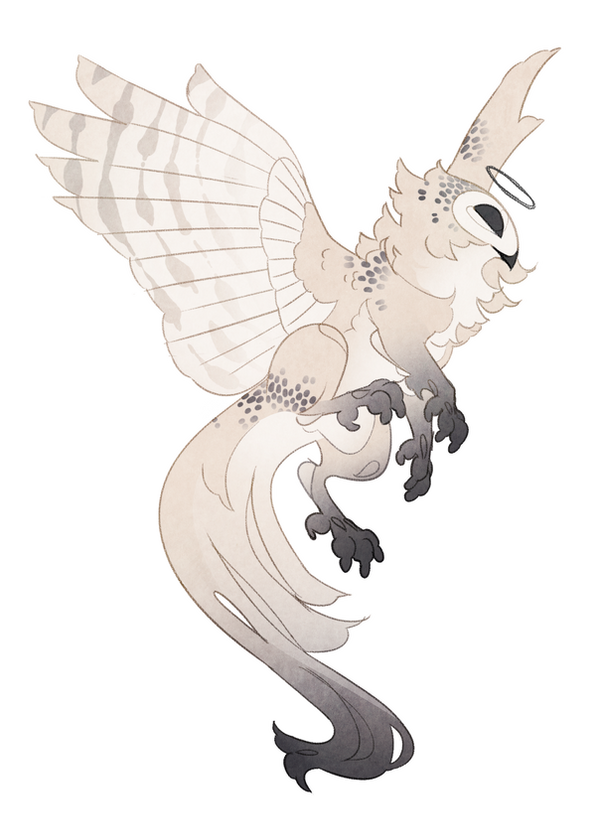 Pastel owl adoptable (open) by Shegoran