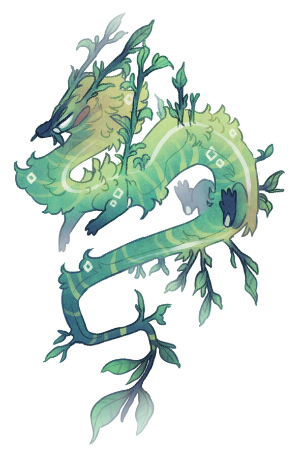 Plant dragon (closed) by Shegoran