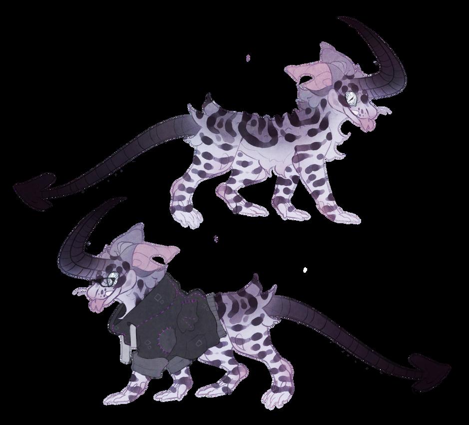 Charleen Dodger the demonic gecko lisy (open) by Shegoran