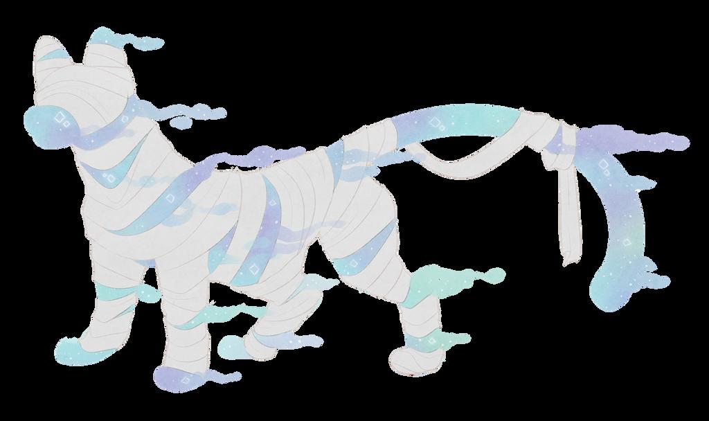 ethereal pastel feline by Shegoran