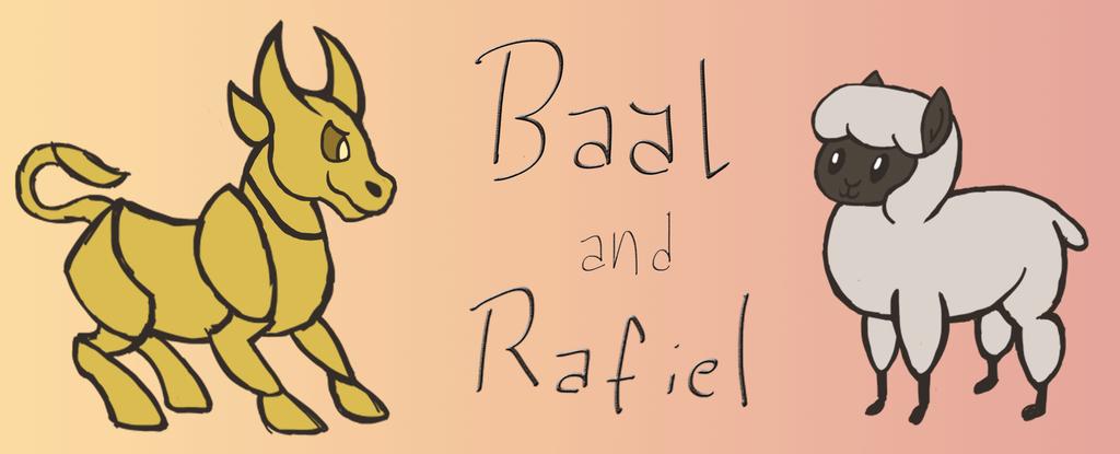 Baal and Rafiel by darckvampireneko