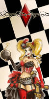 Harley Quinn Burlesque bookmark