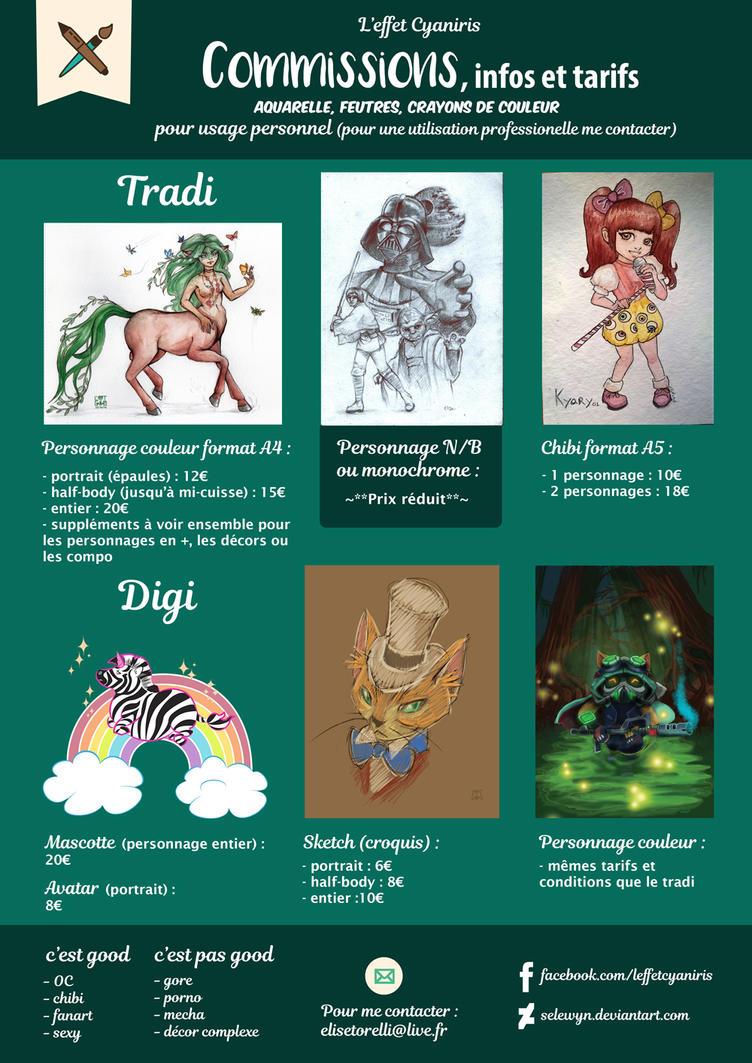 Tableau Tarifs commissions 2017 by selewyn