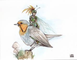 bird rider by selewyn