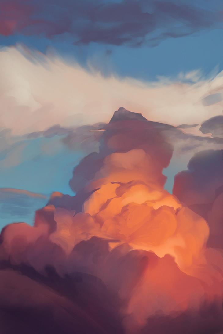 Clouds study - 1 by Dakarri