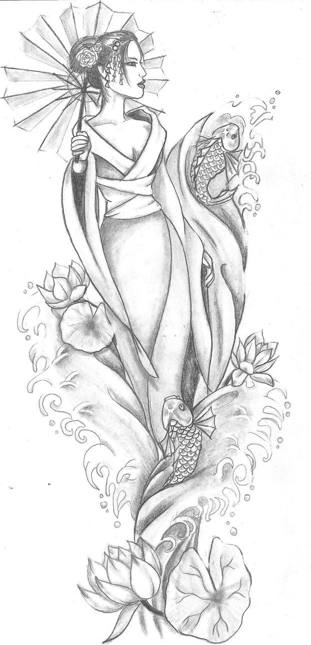 Geisha by artfullycreative