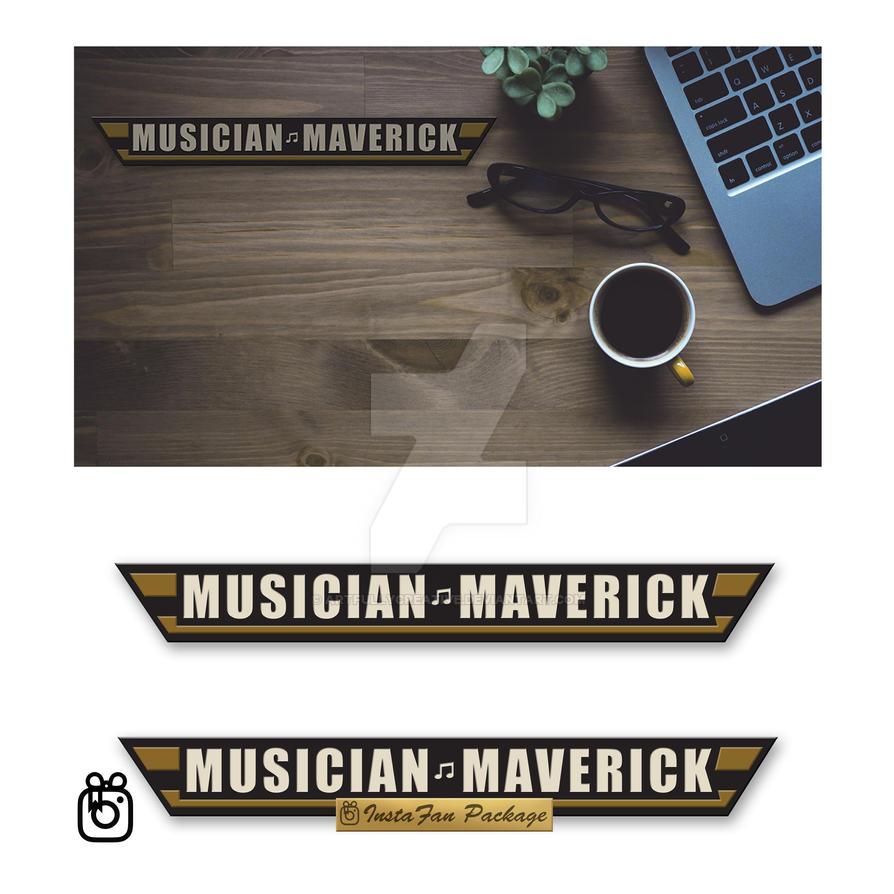 Music Maverick Logo and Background by artfullycreative