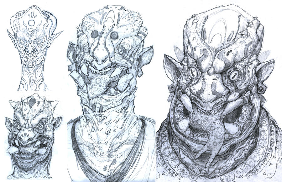 Creature Sketches by TylerScarlet