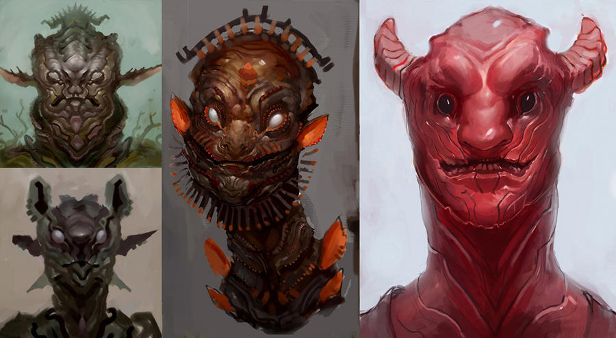 Creature Portraits by TylerScarlet