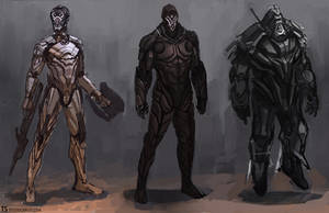 Futuristic Suits by TylerScarlet
