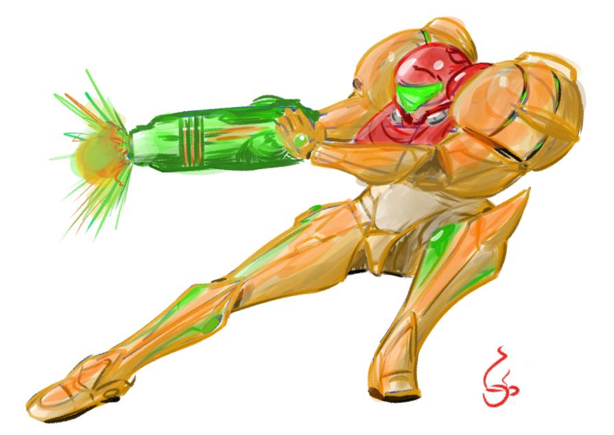 Samus Color Sketch by MrSchinken