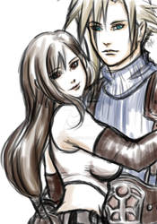 FFCouples Cloud and Tifa by ladywinde