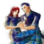 Kaidan Alenko and Jane Shepard