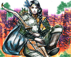 Critical Role's Vex'ahlia the Half Elven Ranger