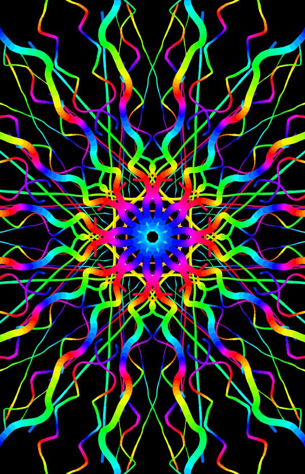 techno rainbow background - photo #2