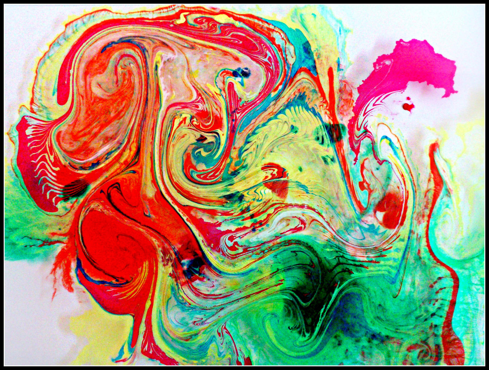 Marbling inks experiment by GraceDoragon