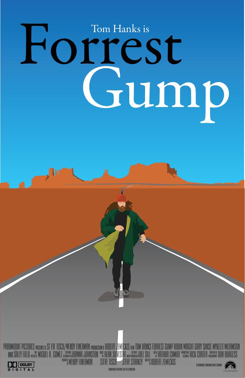 Forrest Gump Movie Poster by mene10 on DeviantArt
