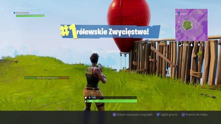 1st win on Fortnite