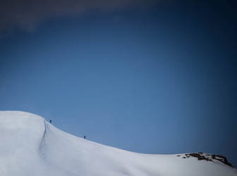 Skiing on the Mountain by GeorgeAmies