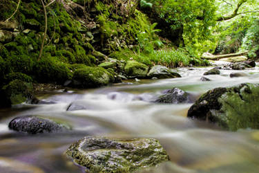 Flowing River by GeorgeAmies