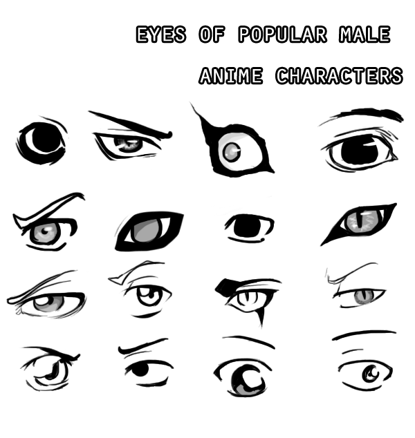 Eyes Of Male Anime Characters By JigokuOnna