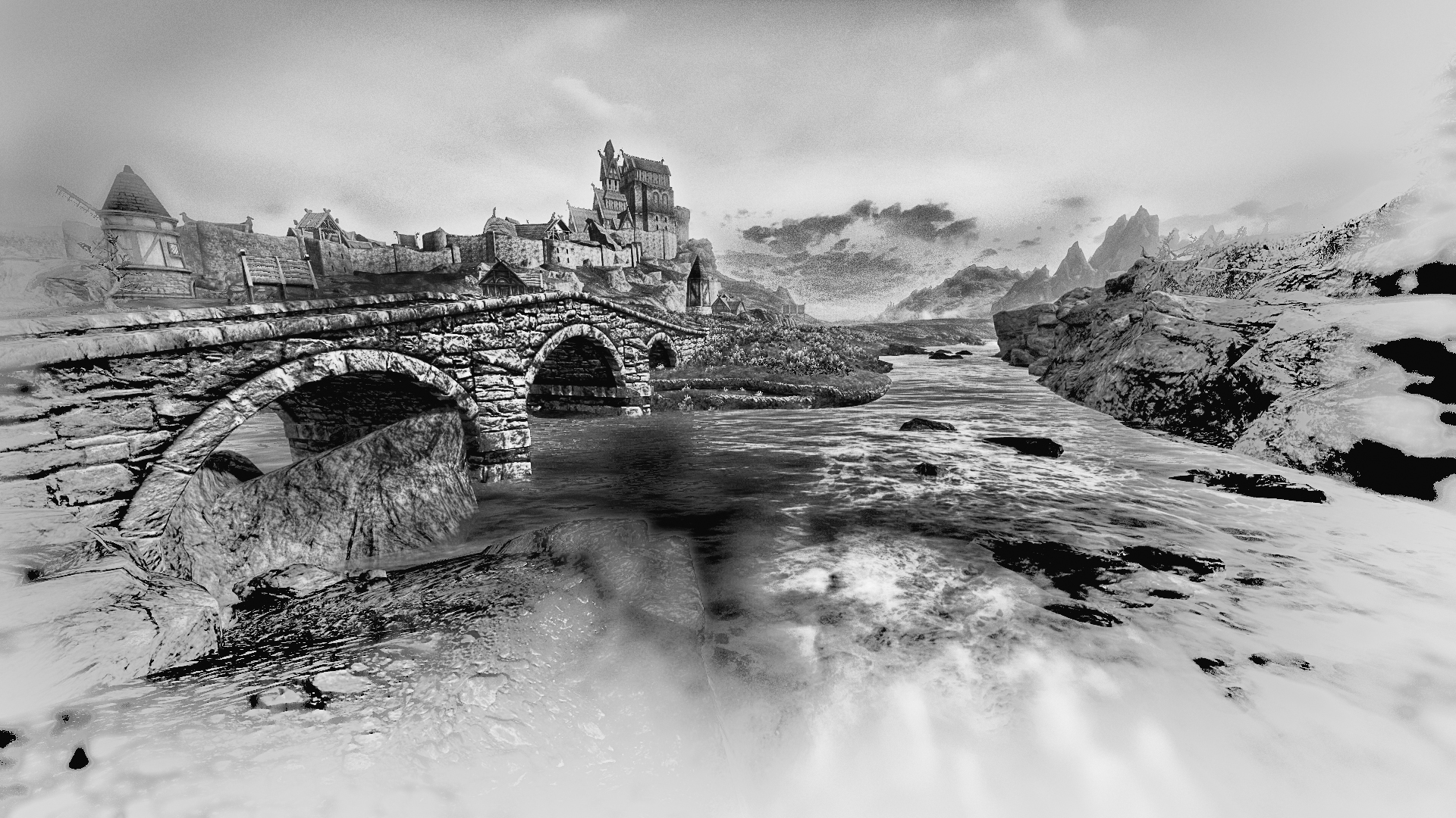 Skyrim Black and White by firesion on DeviantArt