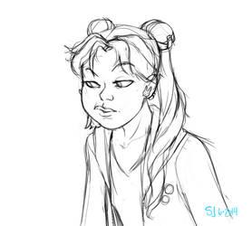 Usagi Sketch by Number-36