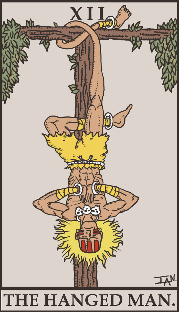 Street Fighter Tarot - The Hanged Man by SayIanIanIan
