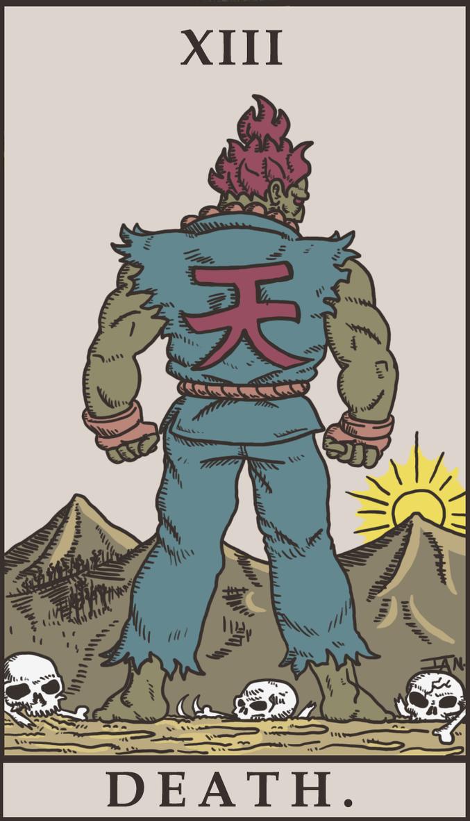 Street Fighter Tarot - Death. by SayIanIanIan
