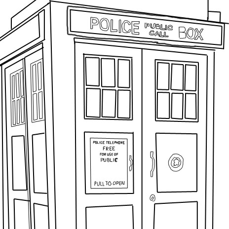 tardis coloring pages - photo#11