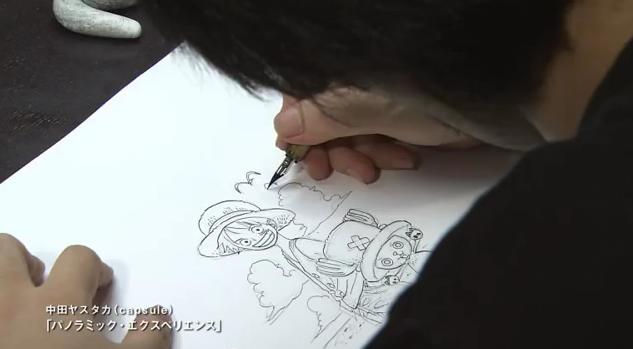 Transcription of video - Oda drawing by Sunnitta