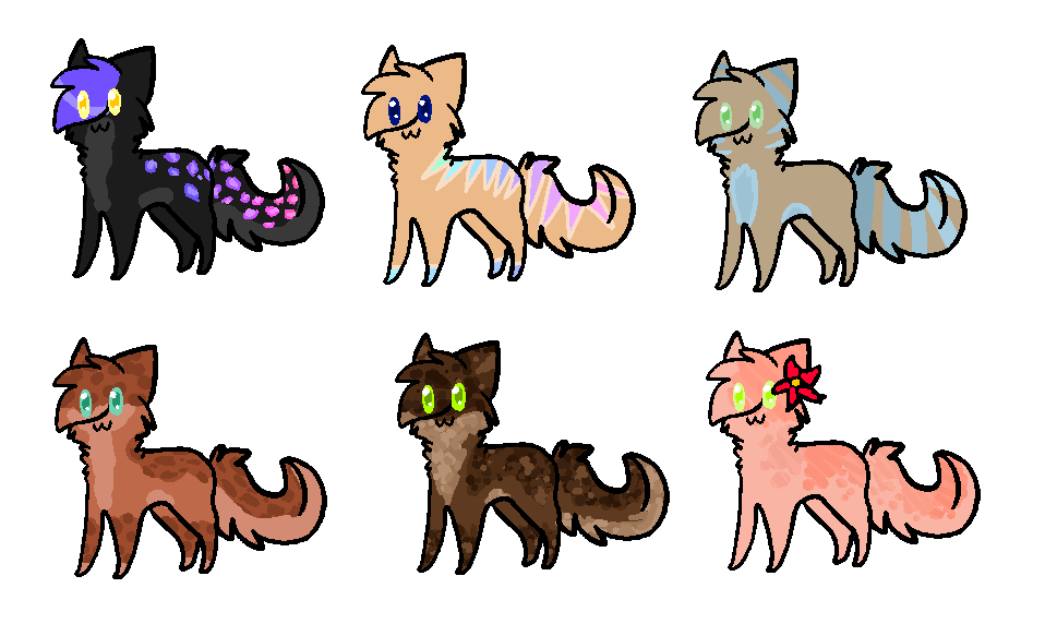 Feline Adoptables Batch One by Smokestar11