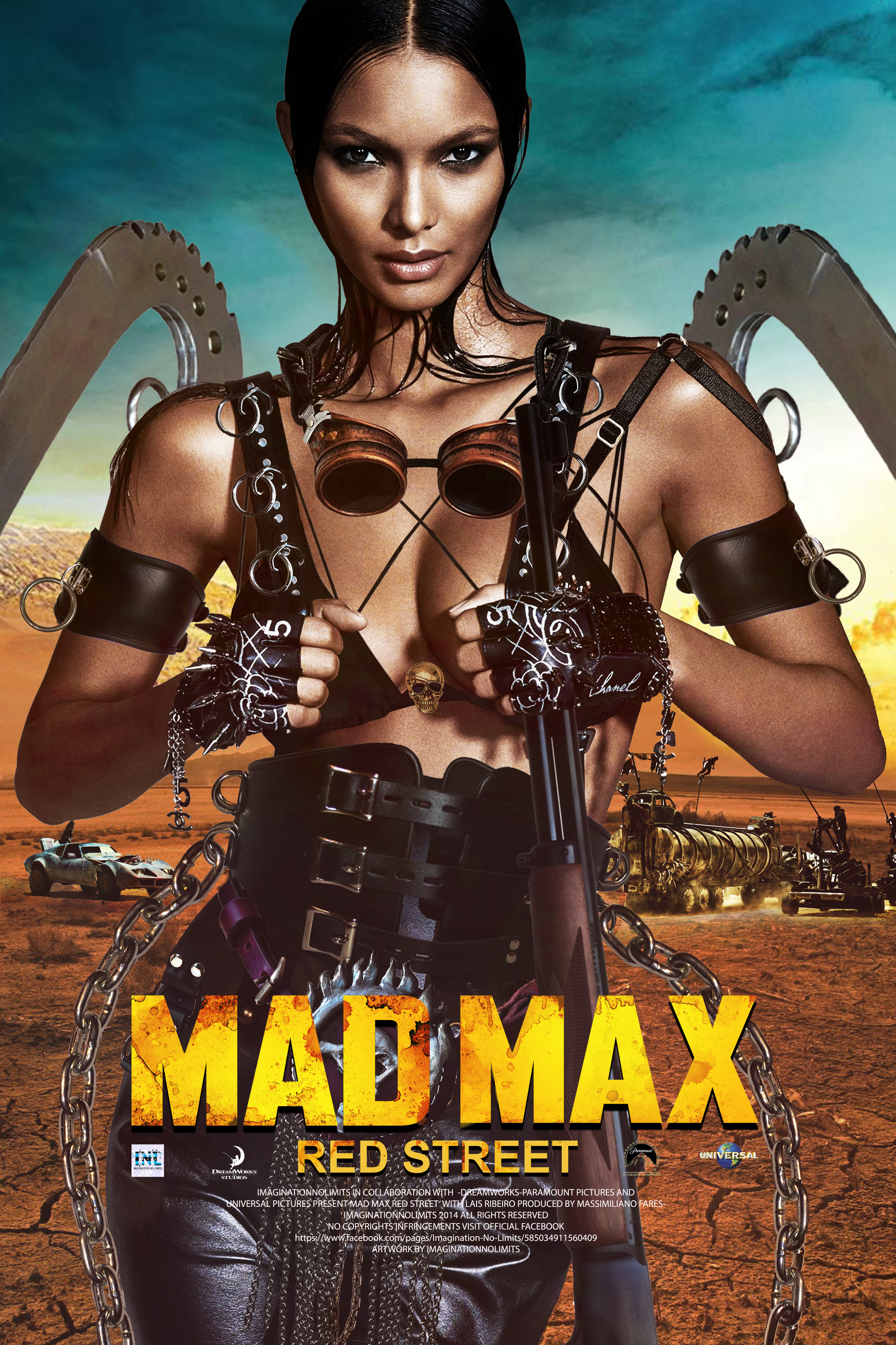 MAD MAX-Red Street-Movie Poster with Lais Ribeiro