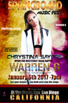 2ND PROMO POSTER FLYER FOR SINGER CHRYSTINA SAYERS