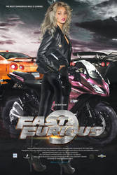 FAST AND FURIOUS9 -MOVIE POSTER WITH ROSE BERTRAM