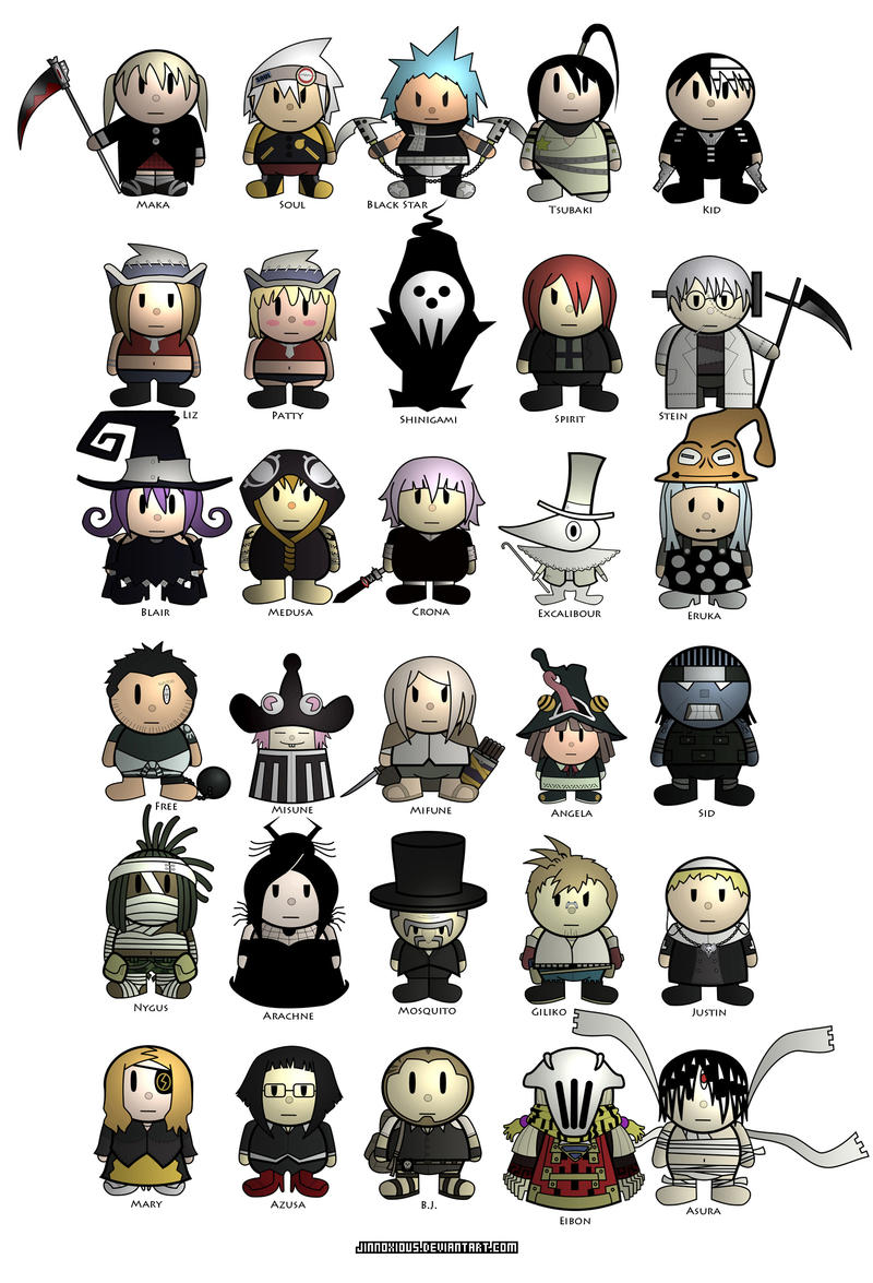 Cute Chibis Soul Eater by jinnoxious on DeviantArt