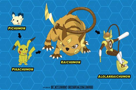 PIKACHUMON Digivolution Chart