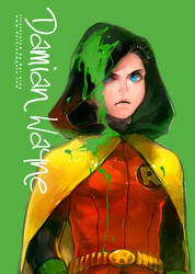 Damian Wayne by Haining-art
