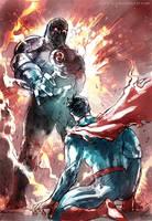 Darkseid and Superman by Haining-art