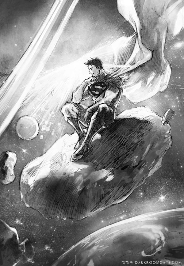 Superman sketch by Haining-art