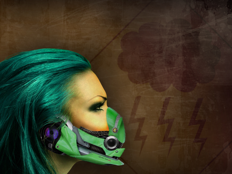 Cyber industrial mask