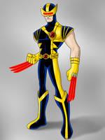 Cyclops/Wolverine Amalgam by payno0